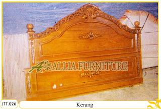 Tempat tidur kayu jati ukir jepara Kerang murah.Jakarta