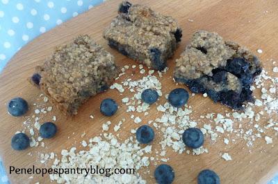 Penelope's Pantry: Blueberry & banana oaty bites, Dairy free, Egg Free, Soya Free, Vegan