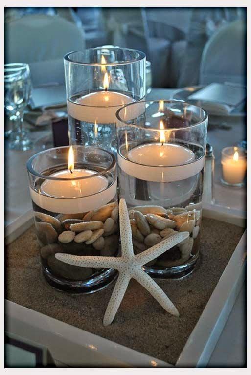 Wedding Beach Ideas Decoration: A Bride's BFF: 26 Non-Floral Beach Wedding Centerpiece Ideas
