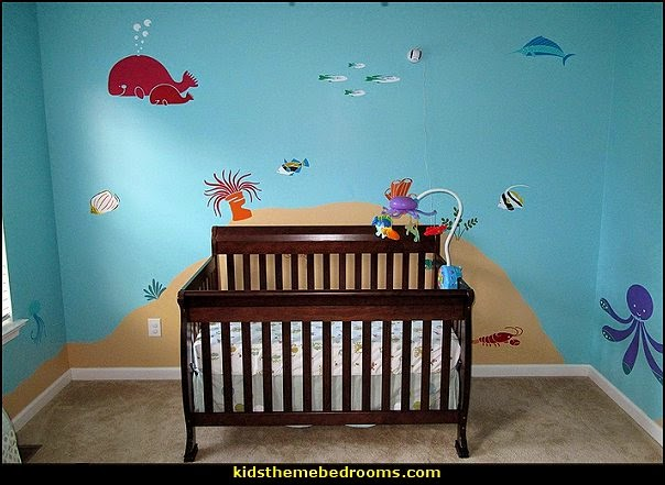 Decorating theme bedrooms maries manor under the sea for Baby room mural ideas
