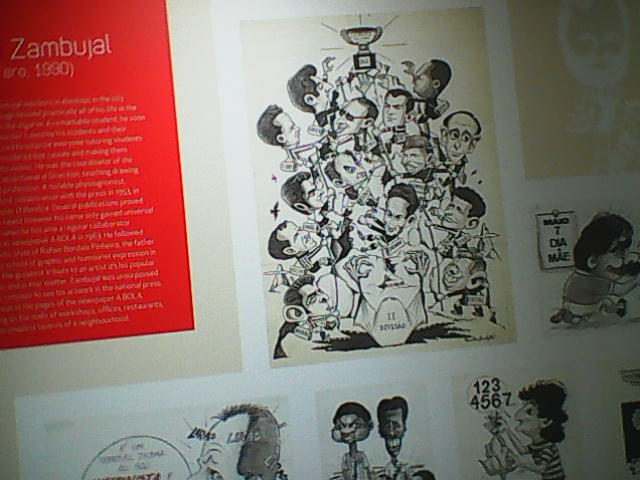 DURING MY INCIDENTAL VISIT TO THE EXHIBITION {[HISTORY  OF  BENFICA  IN PRESS  CARTOONS}}