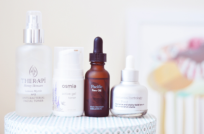 evening natural skincare routine
