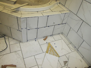 Access door ready to be grouted