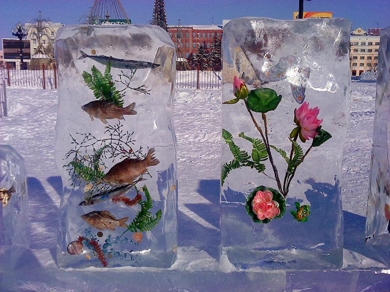 Ледяные фигурки своими руками