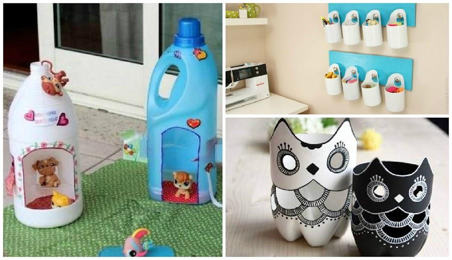 Manualidades de botellas recicladas imagui for Decoraciones de botes de plastico