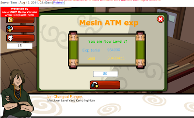 Cheat ATM XP Ninja Saga