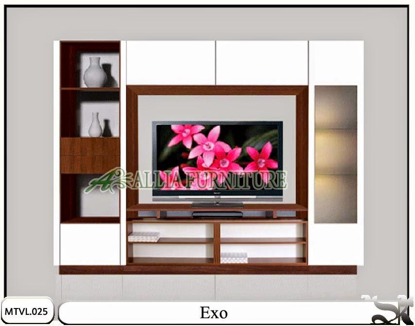Lemari model tv lcd desain minimalis Exo