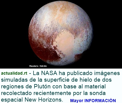 MUNDO: La NASA divulga el sobrevuelo de dos grandes regiones de hielo de Plutón