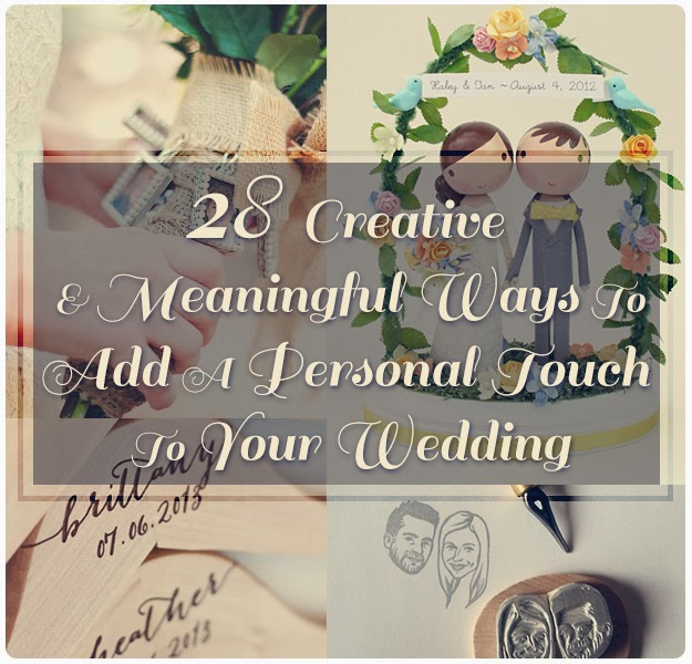 adding that personal touch your wedding