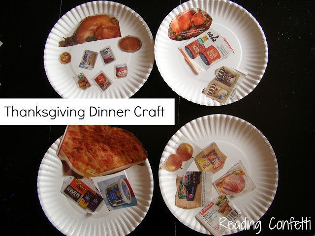 Thanksgiving Dinner Craft from Reading Confetti