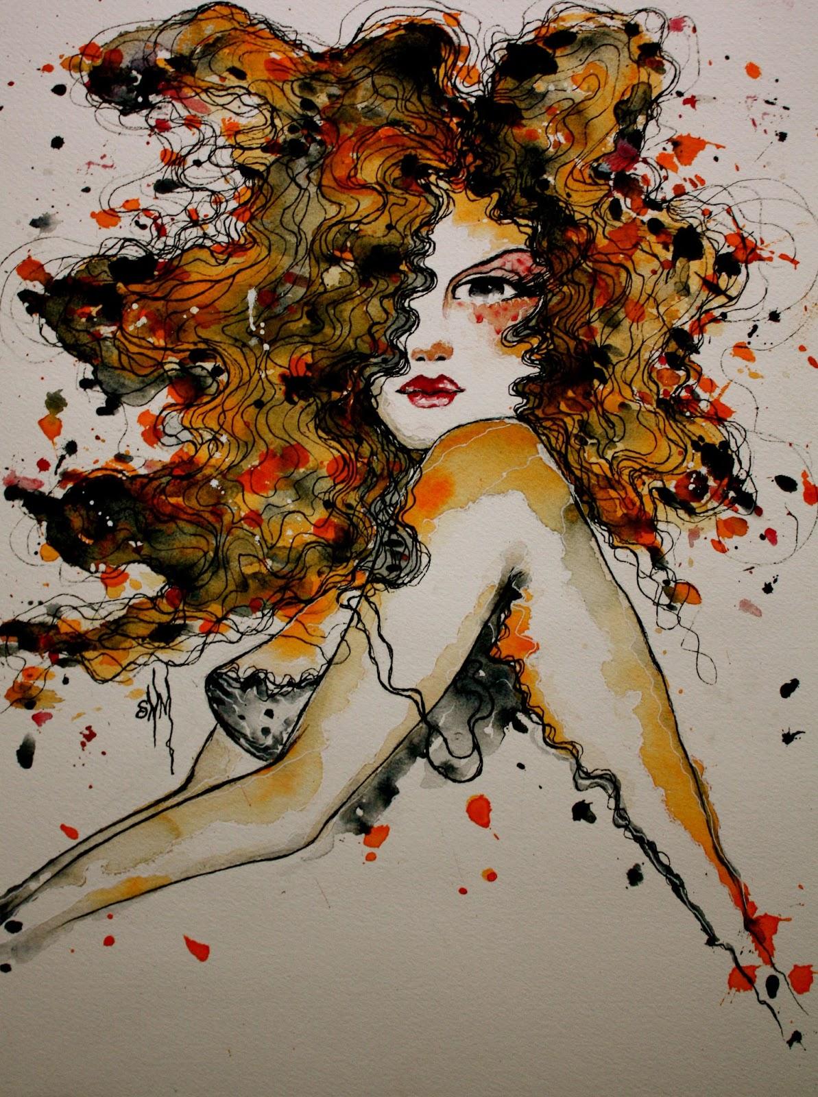 Sensualidad con Acuarela | © Stephanie Noblet Miranda (Aka Madmoiselle Zazie)
