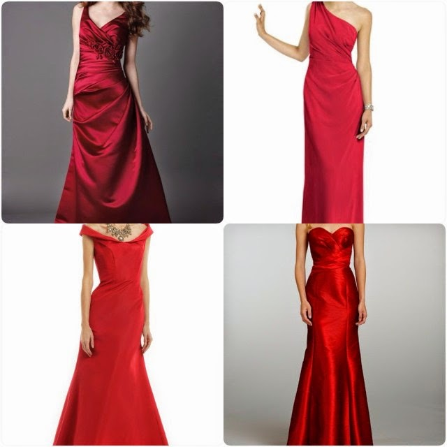 Red Christmas Bridesmaids Dresses