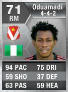 Nnamdi Oduamadi 71 - FIFA 13 Ultimate Team Card - FUT 13