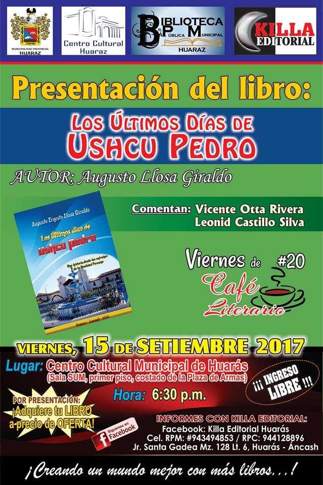 PRESENTACION DE LIBRO EN HUARAZ
