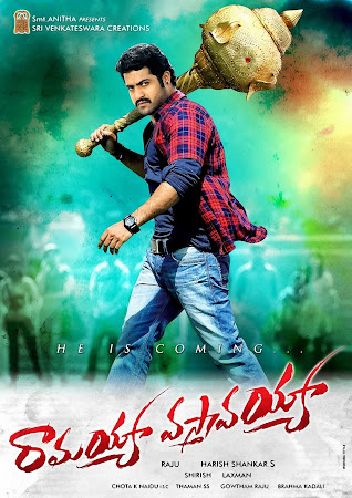 Poster Of Ramayya Vastavayya (2013) In Dual Audio Hindi Telugu 300MB Compressed Small Size Pc Movie Free Download Only