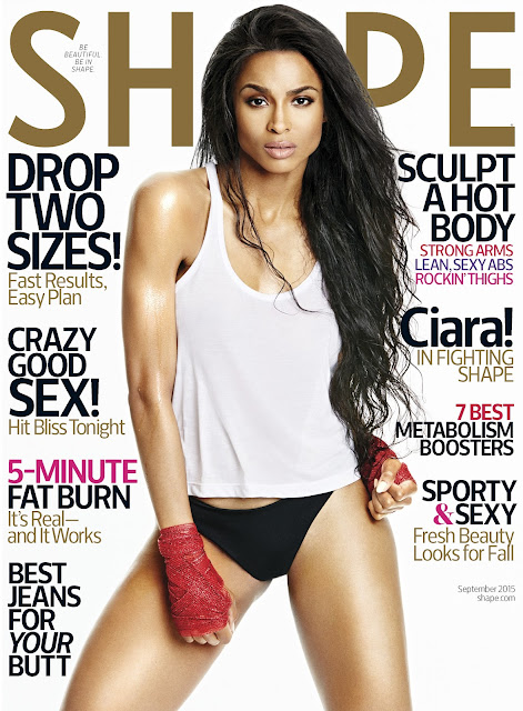 Actress, Singer, Fashion Model @ Ciara - Shape September 2015