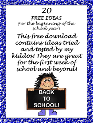 https://www.teacherspayteachers.com/Product/Freebie-List-of-Beginning-of-the-Year-Ideas-Games-and-Activities-2031182
