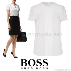 Princess Marie Style HUGO BOSS Pleated Silk Shirt