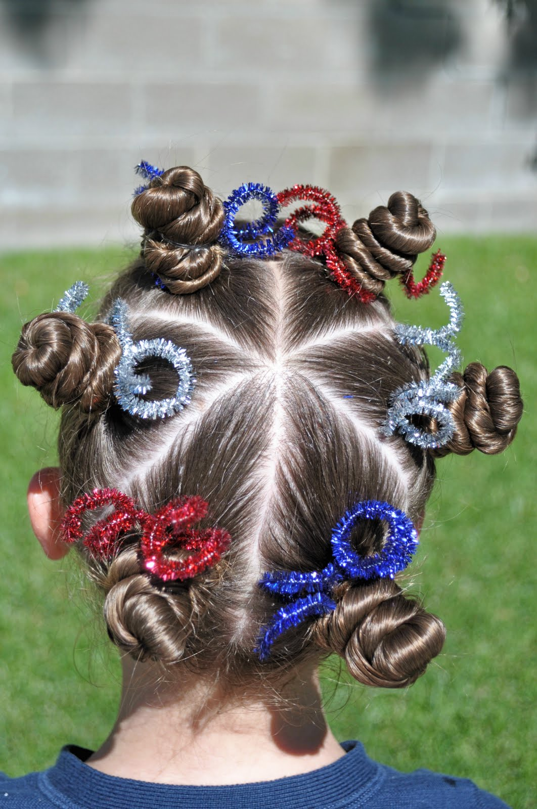 Fourth Of July Hairstyles Princess Piggies Independence Day Hair