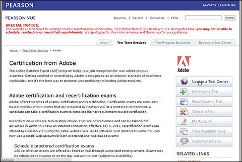 Pearson Vue - Adobe
