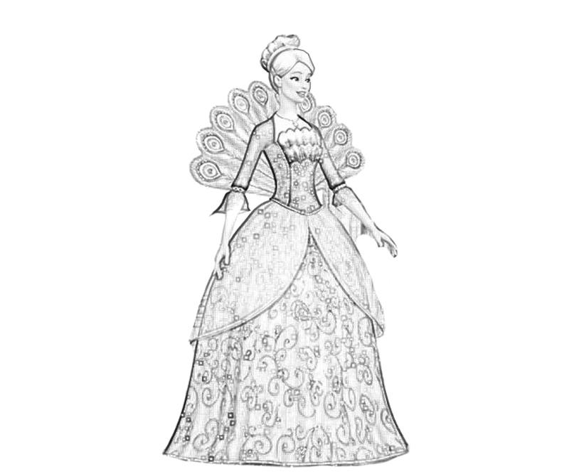 Barbie Coloring Pages Fashion Dress : Free coloring pages of barbie fashion fairytale
