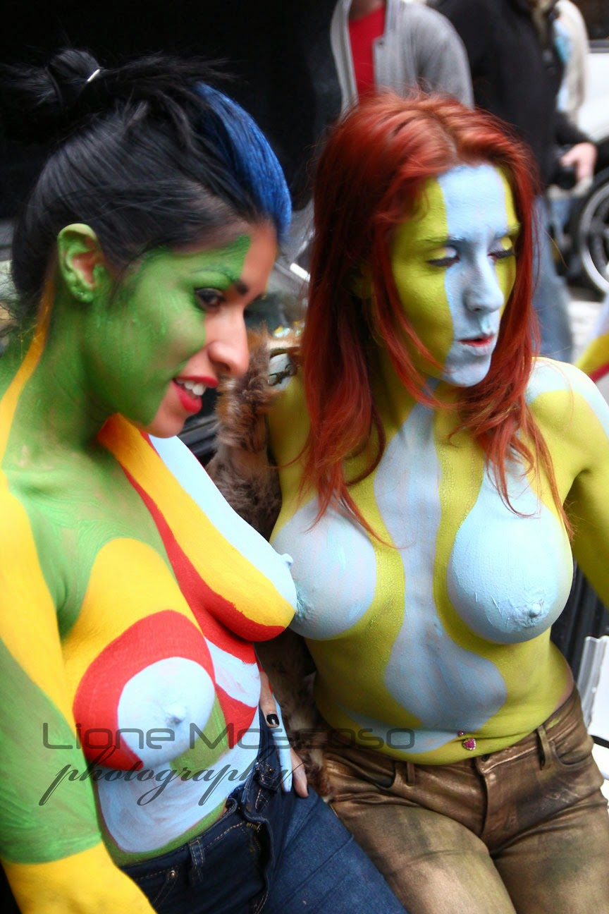New York City body Art  Painting - sister and sister