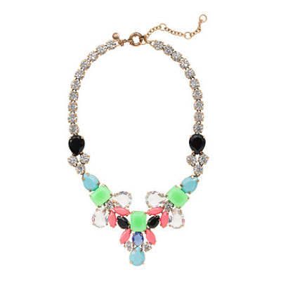 J.Crew color collage statement necklace, summer trends, summer jewelry