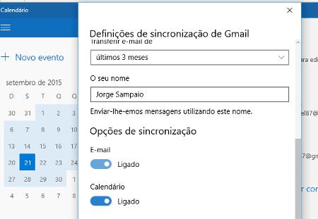 Como usar o Google Calendário no Windows 10