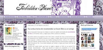Forbidden Planet blog