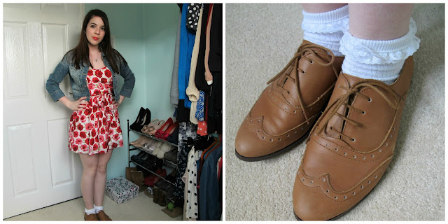 A picture of how to style brogues for a casual daytime look