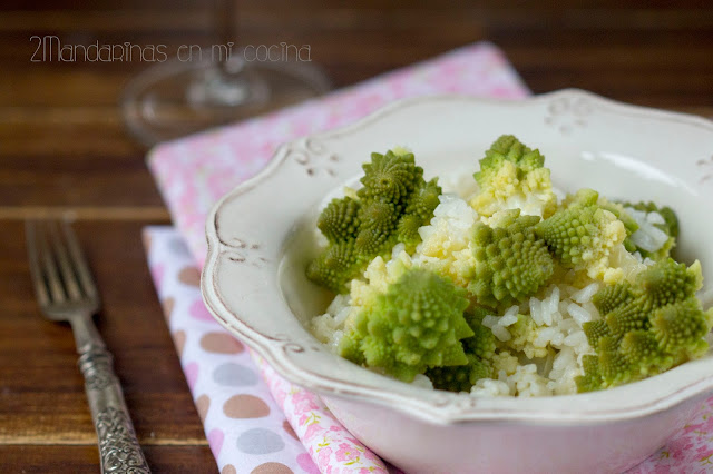 Arroz con romanesco