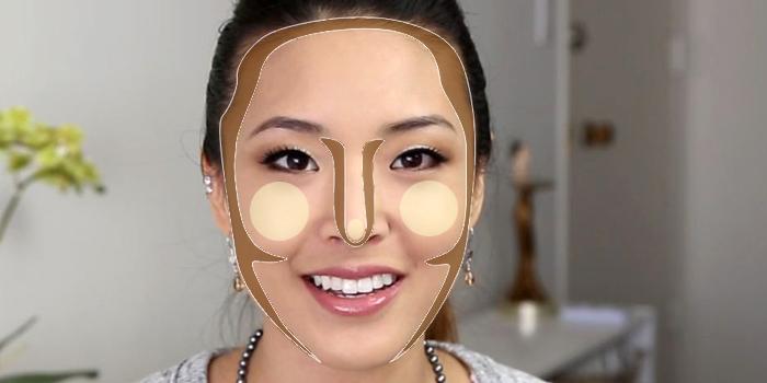 Cobrir círculos abaixo do batom de olhos