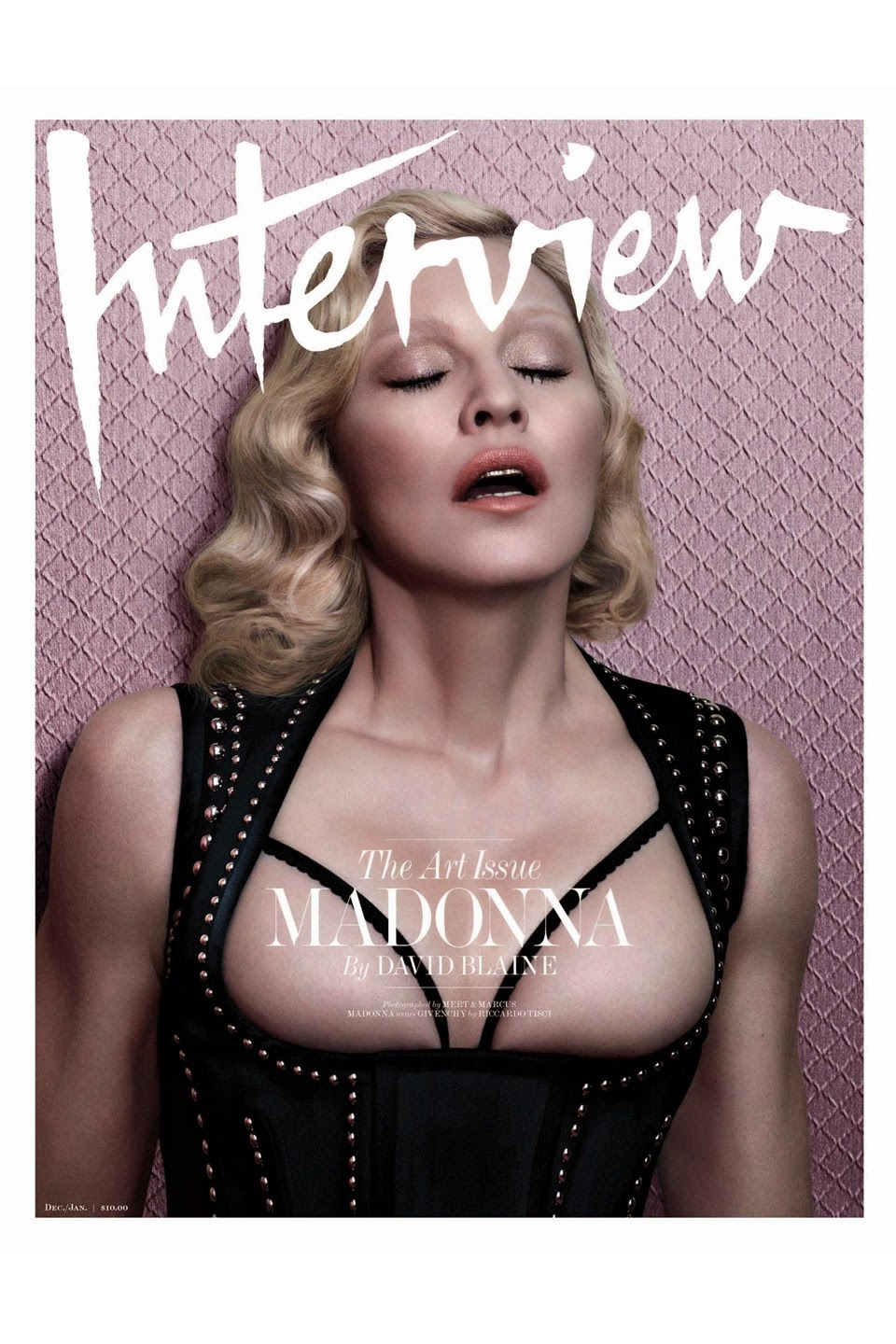 Madonna goes topless for Interview Magazine