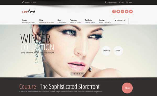 Couture WordPress WooCommerce Theme