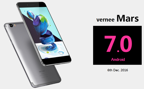 Vernee Mars -World's first Helio P10 smartphone to get Android 7.0 on 6th Dec!