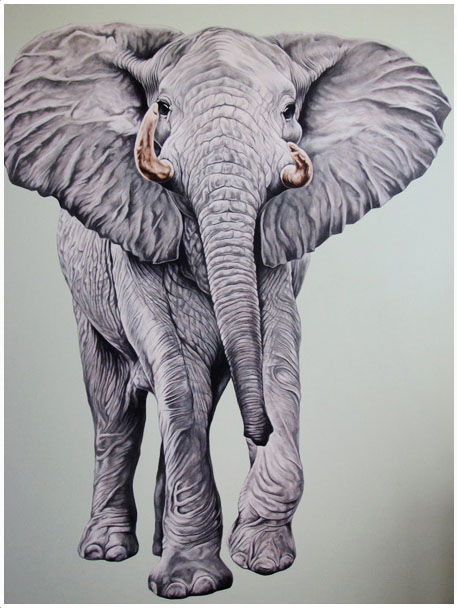 Scott Zaragoza, elephant painting