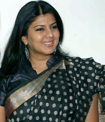 Swarnamalya in Black Saree  Photo Gallery