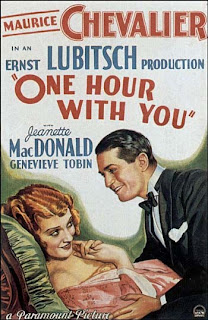 Film Poster One Hour with You 1932 movieloversreviews.blogspot.com
