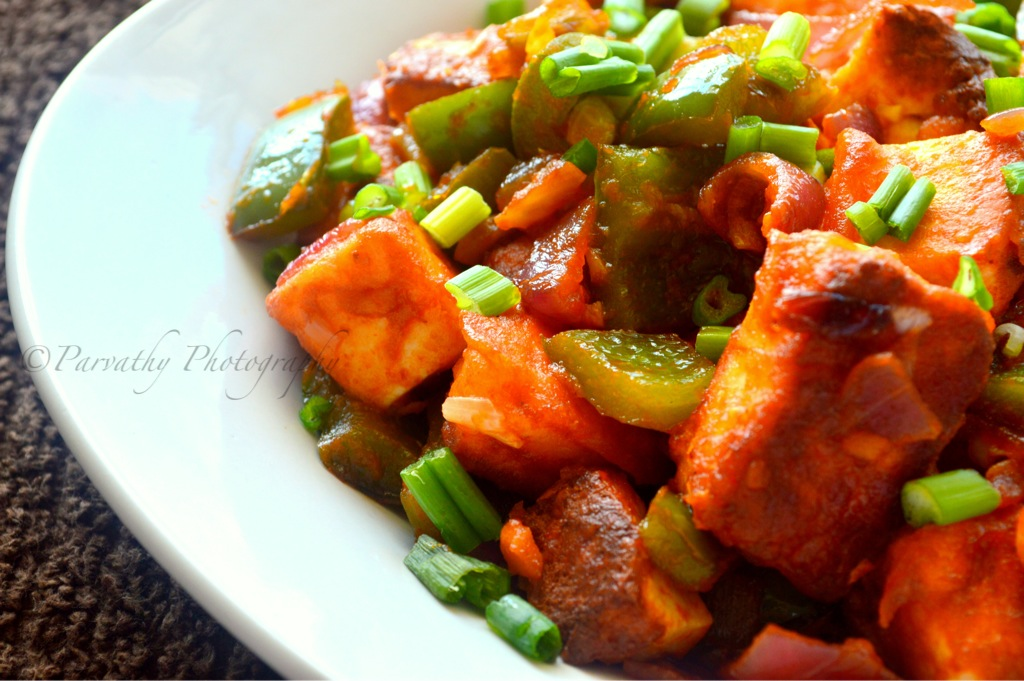 Chilli Paneer Recipe - Dry Version