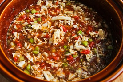 Slow Cooker Cabbage Soup with Tomatoes, Chicken Garlic ...