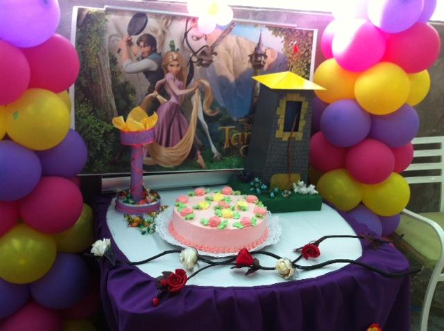 Decoracion Rapunzel Globos ~ Decoraci?n en globos de rapunzel  Imagui