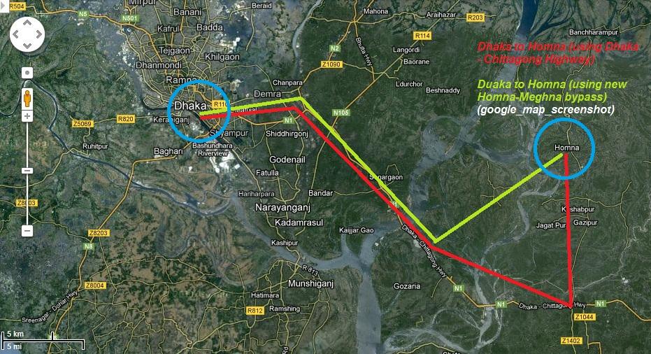 Homna Comilla Homna Meghna Dhaka new Road