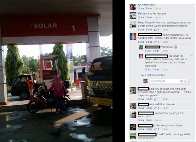 Foto Ibu-ibu di SPBU Menjadi Perbincangan Hangat Netizen