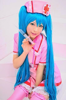 Mashiro Yuki Cosplay as Vocaloid Hatsune Miku