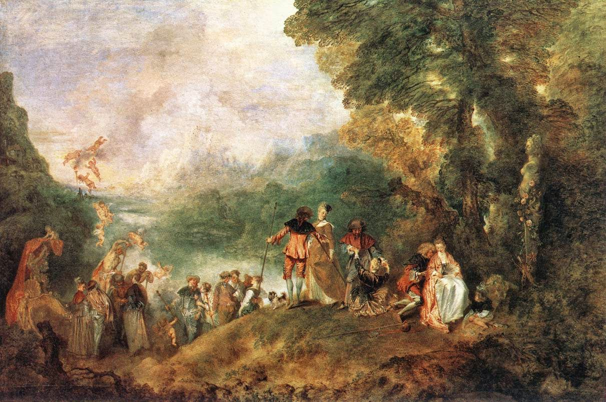 Pèlerinage à Cythère Watteau fete galante