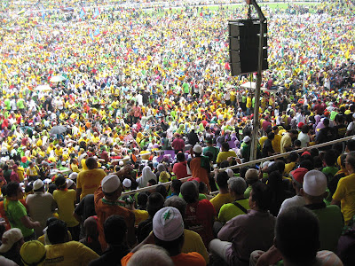 Packed crowd on field Himpunan Kebangkitan Rakyat