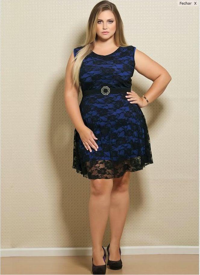 Look vestido azul renda