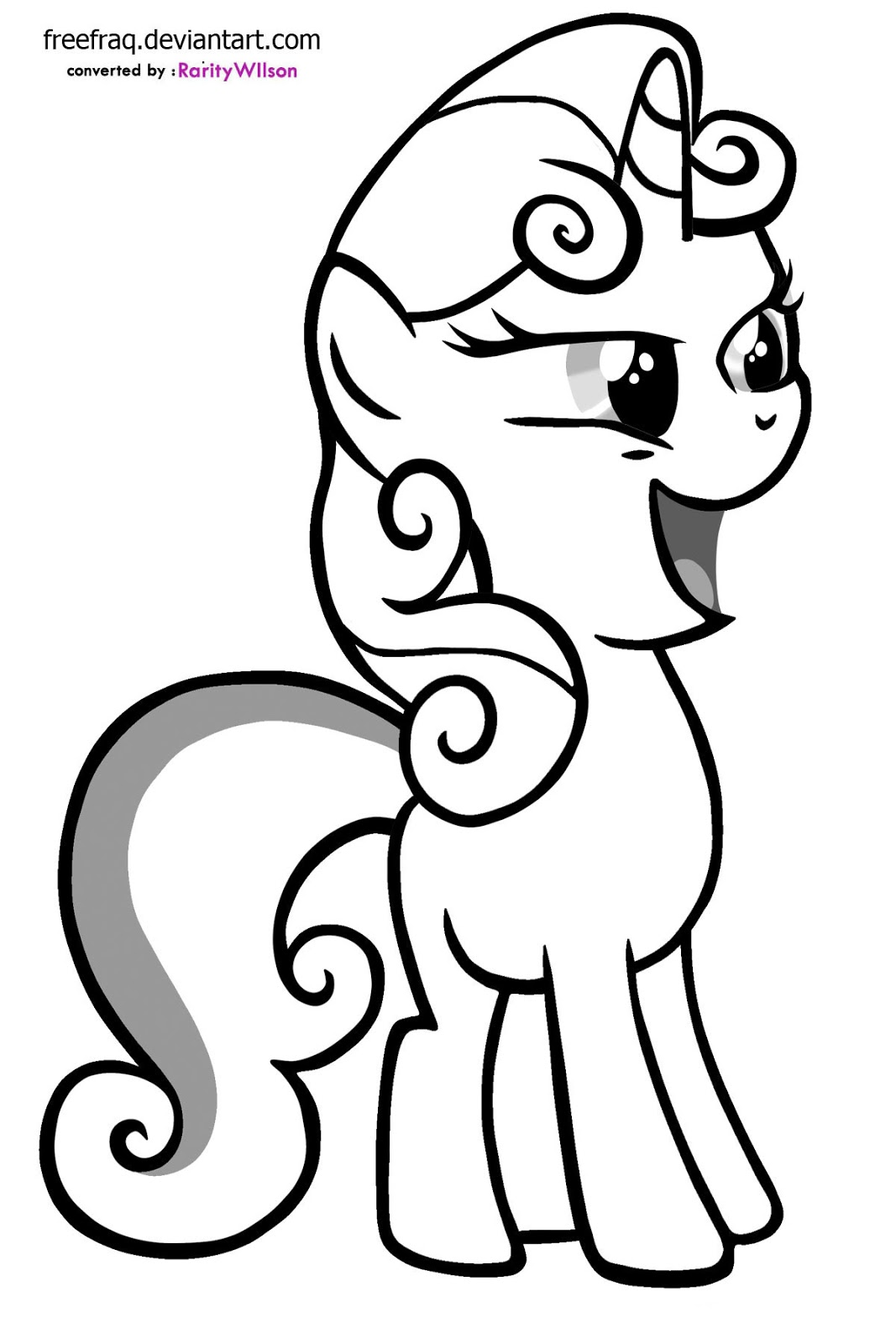 My Little Pony Coloring Pages Sweetie Belle : Baby sweetie belle coloring pages