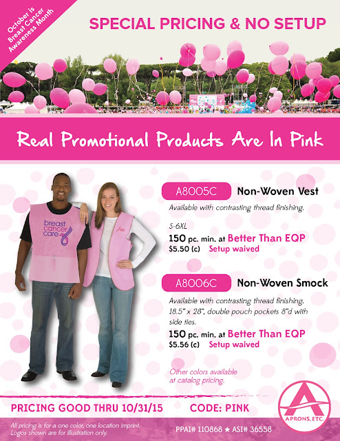 Breast Cancer Awareness Pink Promotional Apparel