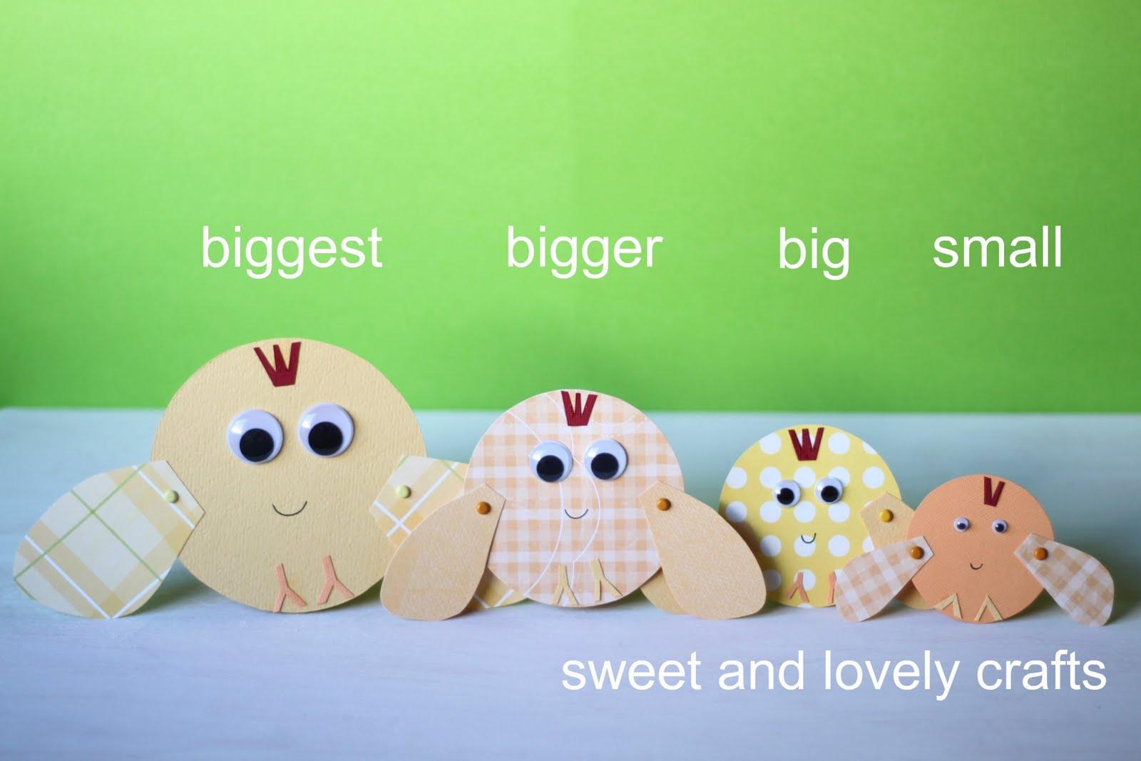 sweet and lovely crafts: big, bigger, biggest chicks
